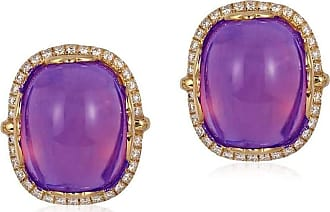 Goshwara Rock n Roll Amethyst Cabochon Earrings
