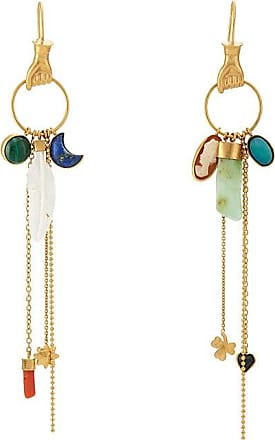 Chasun Young Womens Embellished Mismatched Drop Earrings