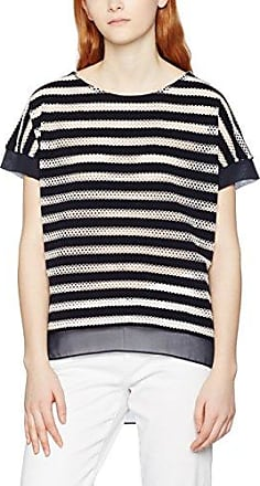 Great Plains Lattice Stripe tee, Camiseta para Mujer, Azul (Classic Navy/Christy Cream 40), 38 (Tamaño Fabricante:Small)