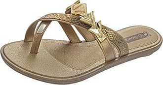Grendha Glamour Thong Womens Flip Flops / sandfarbeale - schwarz Snake - SIZE EU 41/42