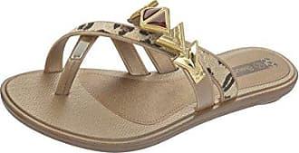Glamour Thong Womens Flip Flops / sandfarbeale - schwarz Snake - SIZE EU 37 Grendha