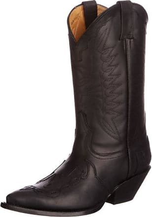 SchutzStylish - Bottes de Cowboy Mujer, Color Negro, Talla 39