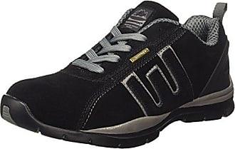 Sicherheitsschuhe/Schnürschuhe für Herren, leichtes Leder-Obermaterial, Stahlkappe., mehrfarbig - blau / gelb - Größe: 45.5