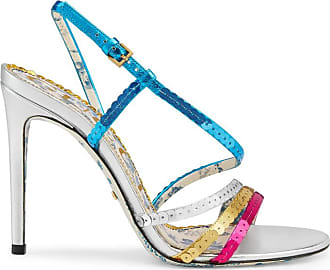 Chaussures De Ville En Cuir à Paillettes Et à Mors De Cheval Princetown - ArgentéGucci