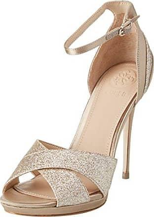 Guess Footwear Dress Sling Back, Scarpe col Tacco con Plateau Donna, Rosso (Medium Red), 35 EU