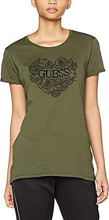 Guess Camiseta de Mujer Baratos en Rebajas, Verde Agua, Algodon, 2017, 38
