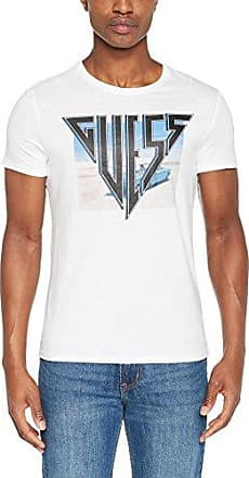 Vn SS tee 7, Camiseta para Hombre, Blanco (True White A000), X-Large Guess