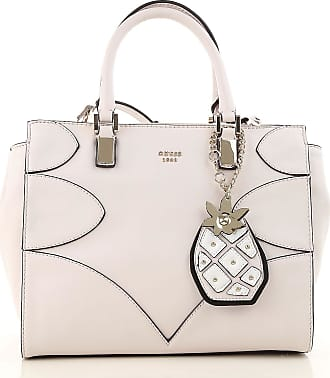 Guess Top Handle Handbag On Sale, White, Leather, 2017, one size
