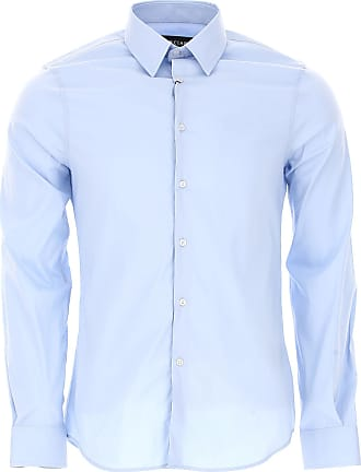 Shirt for Men On Sale, Dark Blue, Cotton, 2017, 15.5 15.75 16.5 17 Guess