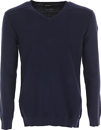 Jersey de Hombre, Cardigan Baratos en Rebajas, Azul Oscuro, Algodon, 2017, L M S XL XXL XXXL Guess