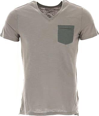 Camiseta de Hombre Baratos en Rebajas, Tinta Azul, Algodon, 2017, L M S XL XXL Blauer