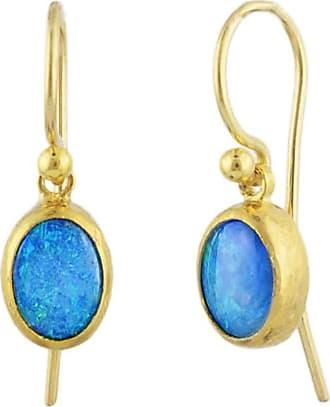 Gurhan Amulet Hue Chalcedony Hoop Earrings