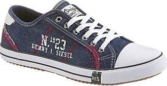 151-008, Herren Sneakers, Weiß (White), 45 EU (10.5 Herren UK) H.I.S