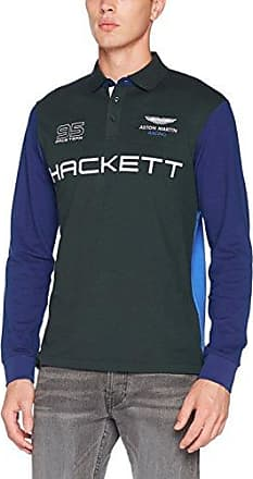Hackett Aston Martin Racing Mlt Wngs LS, Polo para Hombre, Verde (6amgreen/Blue), Medium Hackett