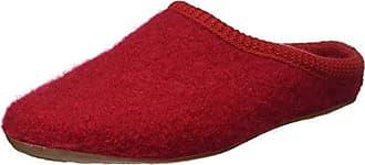 Haflinger Flair Soft 311010-0-11 Unisex Hausschuhe, Rot, 43 EU