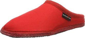 Haflinger Pantoffel Kreta 618026 - Pantuflas para mujer, color rojo, talla 45