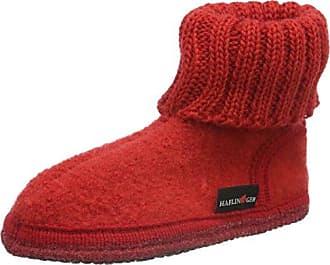 Haflinger Unisex-Erwachsene Karl Hüttenschuh Hohe Hausschuhe, Rot (Rubin 11), 40 EU
