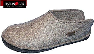 Haflinger warme Hausschuhe, Pantoffel SMILY, torf, Schurwolle, HW-2010, 43