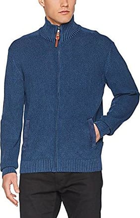 595400, Cárdigan para Hombre, Azul (Ink Blue), Small (Talla del Fabricante: 48) Maerz