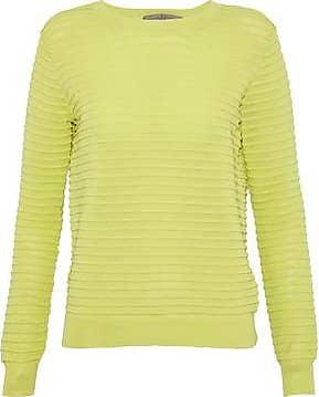 Halston Heritage Woman Chiffon-paneled Cutout Knitted Sweater Pastel Yellow Size XS Halston Heritage