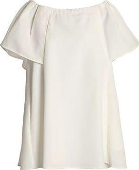 Halston Heritage Woman Off-the-shoulder Gathered Sateen Dress Merlot Size XS Halston Heritage