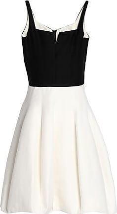 Halston Heritage Woman Pleated Cotton And Silk-blend Mini Dress Lilac Size 8 Halston Heritage