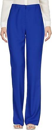 Pantalon évasé En Satin De Soie Plissé Luc - Bleu royalHellessy