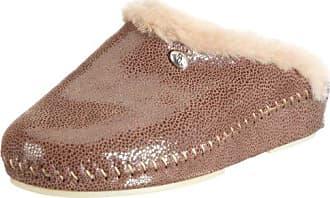 hhc 021695-150 - Zuecos de ante para mujer, color marrón, talla 42 Hans Herrmann Collection