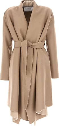 Womens Coat On Sale, Camel, Wool, 2017, 8 Harris Wharf London