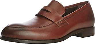Grant - Oxford de cuero hombre, color marrón, talla 44 Harrys of London