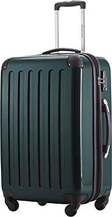 74 Liter Hartschalen Koffer · (63 x 42 x 28 cm) · Hochglanz · Zahlenschloss · WALDGRÜN HAUPTSTADTKOFFER