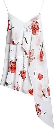 Haute Hippie Woman Asymmetric Floral-print Crepe De Chine Camisole White Size S Haute Hippie