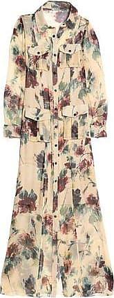 Haute Hippie Woman Printed Silk Crepe De Chine Maxi Shirt Dress Ecru Size 4 Haute Hippie