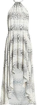 Haute Hippie Woman Snake-print Fil Coupé Chiffon Mini Dress Off-white Size 6 Haute Hippie
