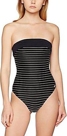 Haute Pression Y8003 - Maillot de bain une pièce - Uni - Femme - Noir (Noir/Blanc) - FR: 46 (Taille fabricant: 46)