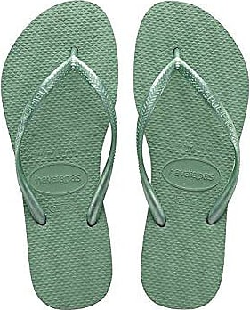 Havaianas Damen Flip Flops Slim Paisage Grösse 37/38 EU (35/36 Brazilian) Beige/Blau Zehentrenner für Frauen