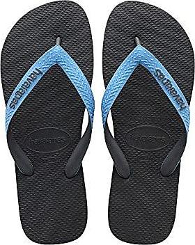 Havaianas Herren/Damen Flip Flops Top Mix Grösse 37/38 EU (35/36 Brazilian) Grau/Turquoise Zehentrenner für Männer/Frauen