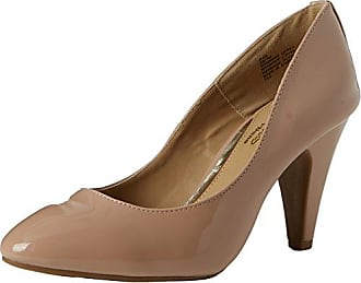 Ava, Escarpins Bout Fermé Femme, Beige (Nude-Synthetic), 36 EUHead Over Heels