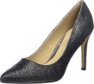 Head Over Heels Annabel, Escarpins Bout Fermé Femme, Noir (Black-Micro_Fibre Black-Micro_Fibre), 41 EU