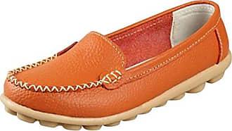 Damen Durchgängies Plateau Sandalen, Orange - Smooth Orange - Größe: 39 Meijili