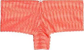 Heidi Klum Intimates Woman Crocheted Lace Low-rise Briefs Coral Size M Heidi Klum Intimates
