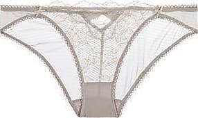 Heidi Klum Intimates Woman Crocheted Lace Low-rise Briefs Coral Size L Heidi Klum Intimates