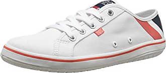 Helly Hansen W Salt LO 2, Chaussures de Sport Femme, Bleu/Rouge (597 Navy/Flag Red/Off White), 41 EU