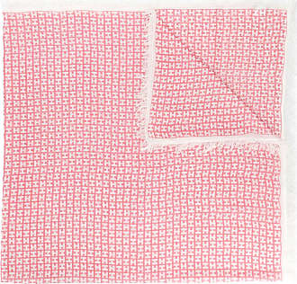 frayed edge scarf - Pink & Purple Hemisphere