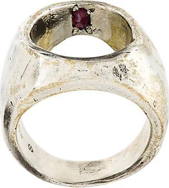 Henson rose diamond flip ring - Metallic