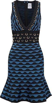 Hervé Léger Woman Katrin Ring-embellished Jacquard-knit Bandage Dress Black Size XS Hérve Léger