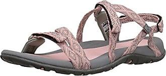 Womens Santori Strap Sandal, Papaya Punch/Cool Grey, 6.5 D US Hi-Tec