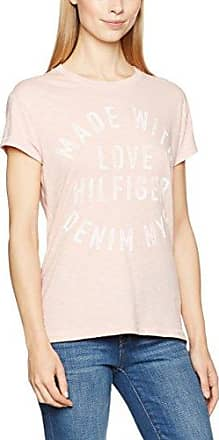 Hilfiger Denim THDW Basic CN S/S 12, T-Shirt Femme, Rose (Silver Pink), 38 (Taille Fabricant: Medium)Tommy Jeans