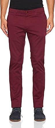 Hilfiger Denim Thdm Basic STR Slim Chino 11, Pantalones para Hombre, Rojo (Windsor Wine 674), W38/L32 Tommy Jeans