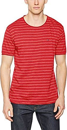 Tommy Jeans Hilfiger Denim Thdw a-Line VN Henley S/S 16, Camiseta para Mujer, Rojo (Bittersweet 665), Small